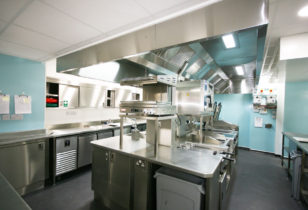 State of the art commercial kitchen complete